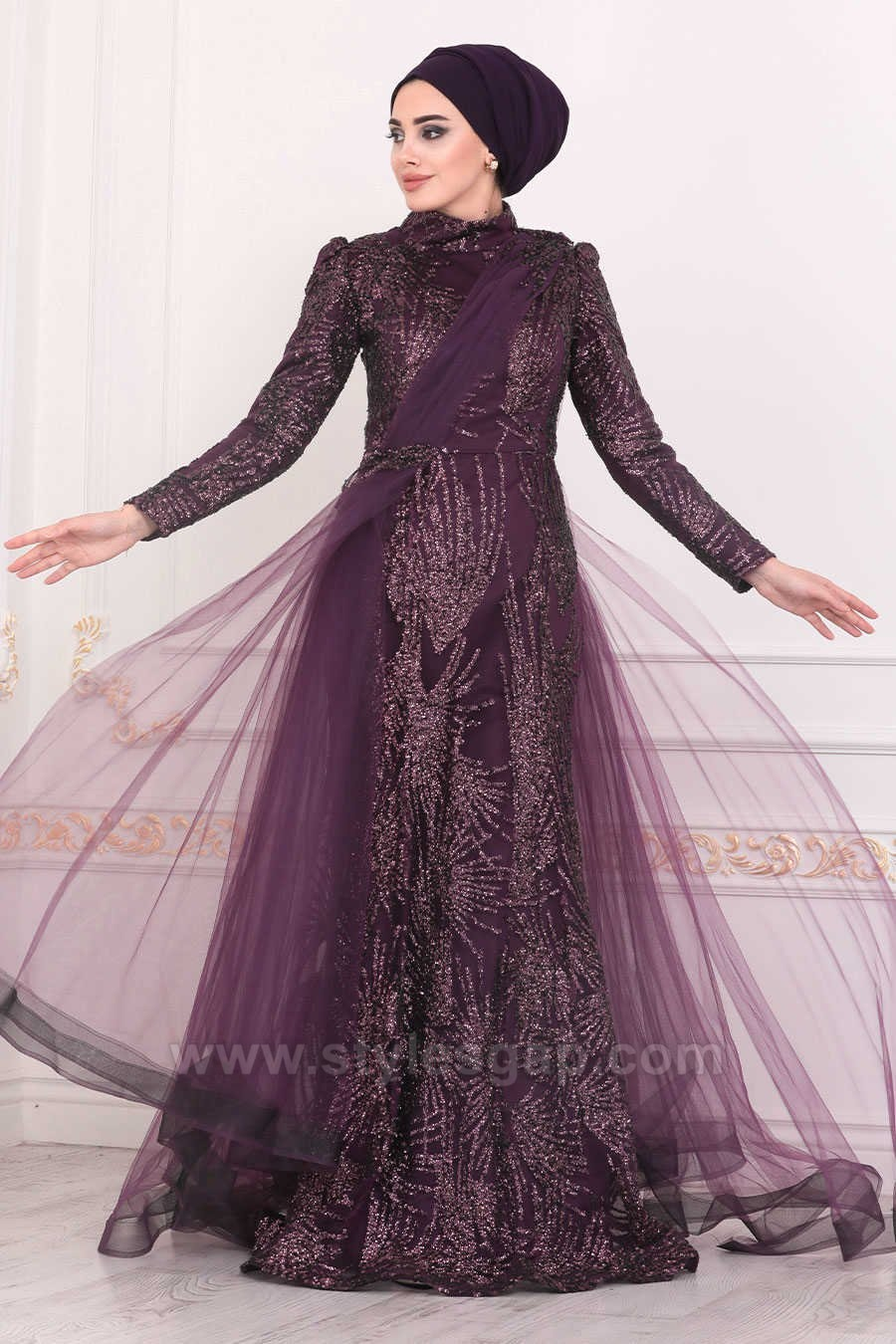 Fancy Party Wear Formal Hijabs Abaya Evening Dresses