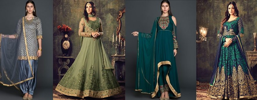 Latest Pakistani Indian Salwar Kameez Designs & Trends
