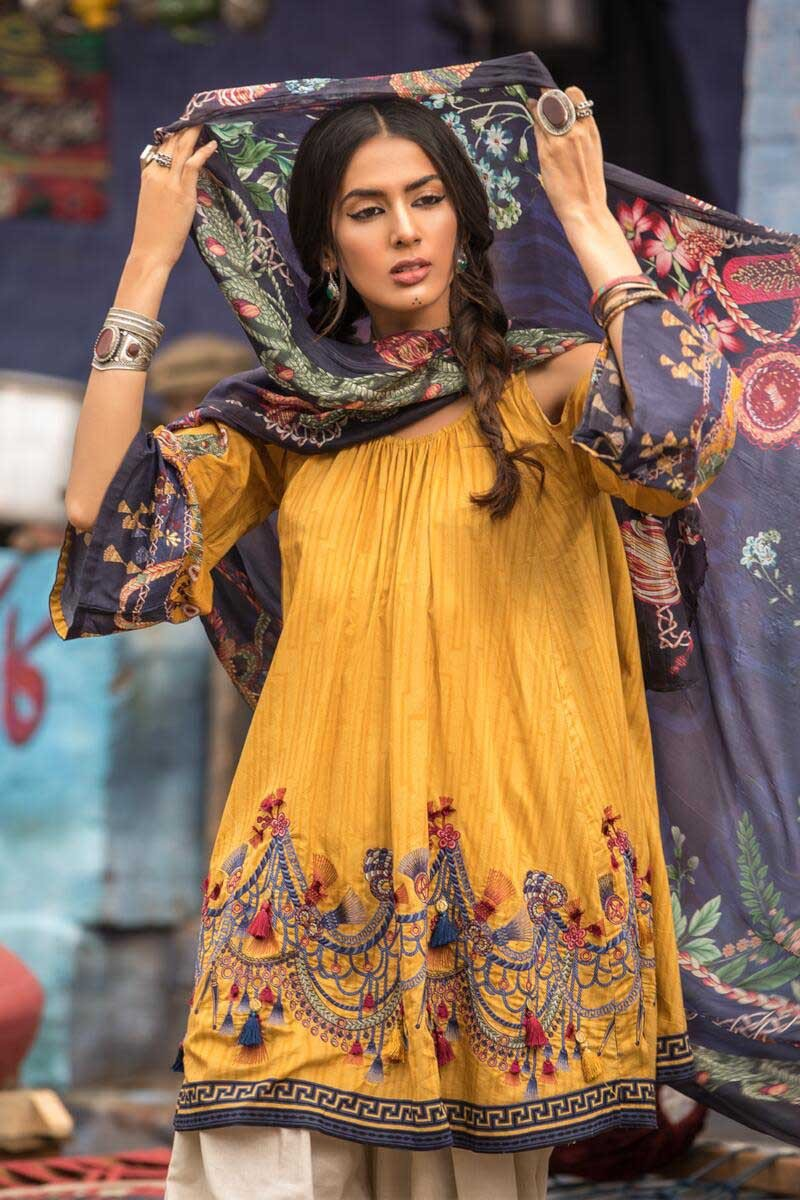 1b8fc1c695 Here we are sharing the M Prints Maria B Printed Embroidered Lawn  Collection 2019