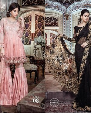MARIA. B Luxury Formal Dresses Embroidered Collection 2017-2018