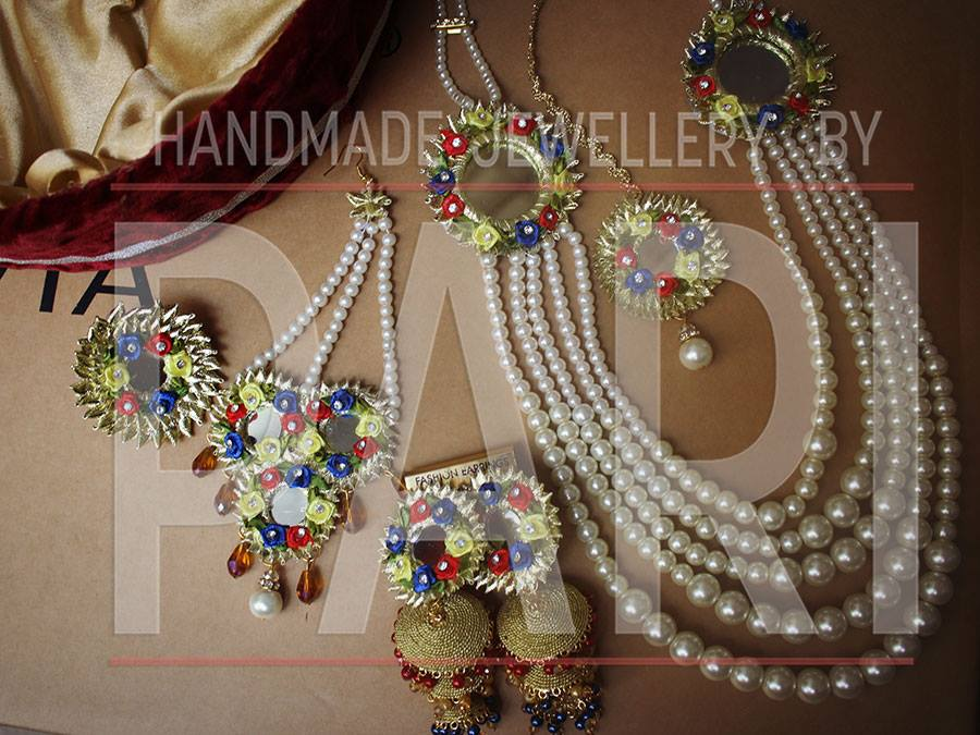 complete jewelry set  handmade mayon mehndi jewelry by