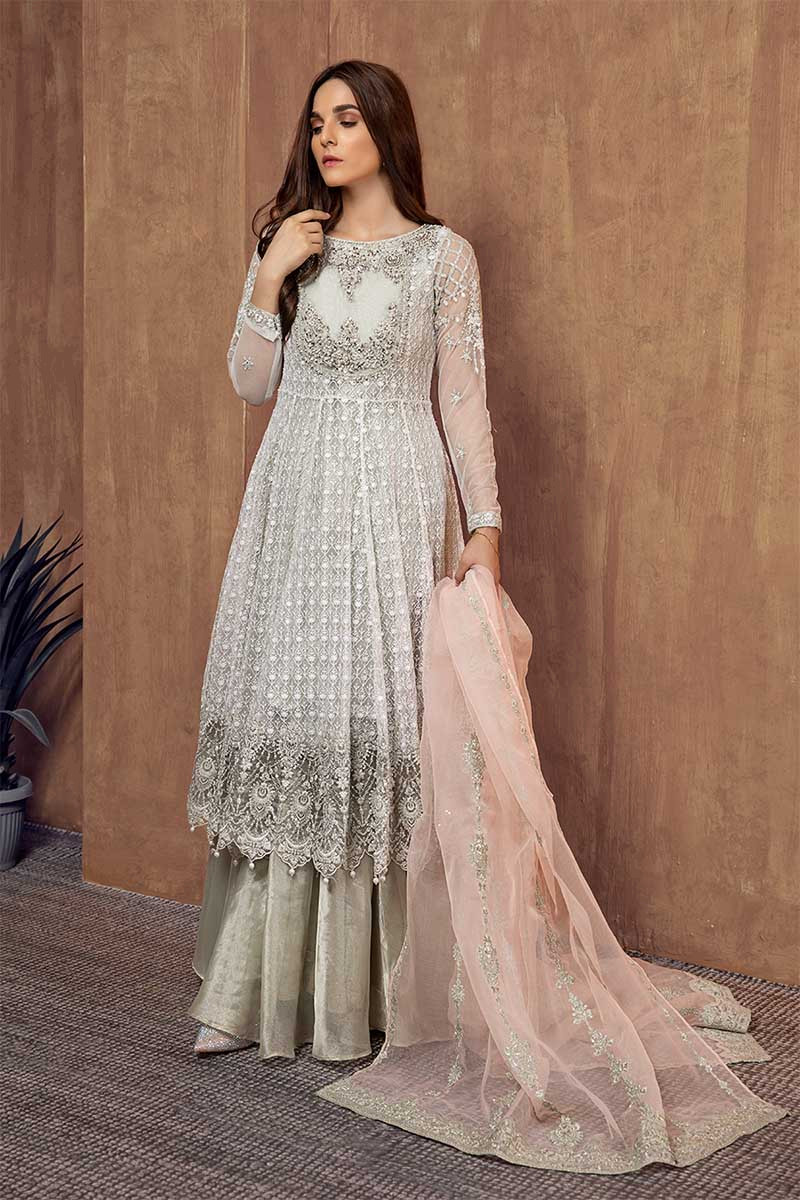 Formal Winter Party Wear Dresses Maria B Stitched Collection 2020 2021