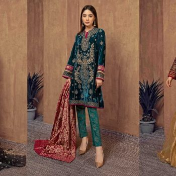 Formal Winter Party Wear Dresses Maria B Stitched Collection 2020