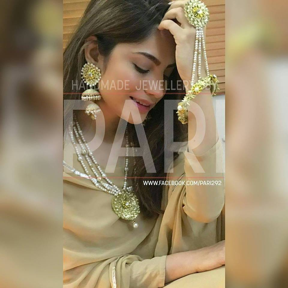 Handmade Mayon Mehndi Jewelry 2018 by Pari Designs Collection