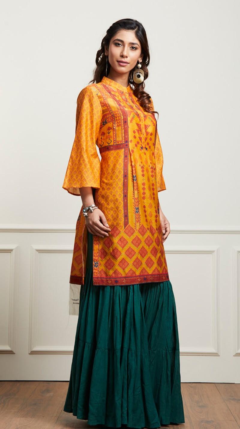 Indian Stylish Tunics Kurtis Ritu Kumar Collection 2018-2019 - photo #5