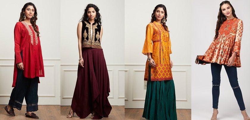 Indian Stylish Tunics Kurtis Ritu Kumar Collection 2018-2019