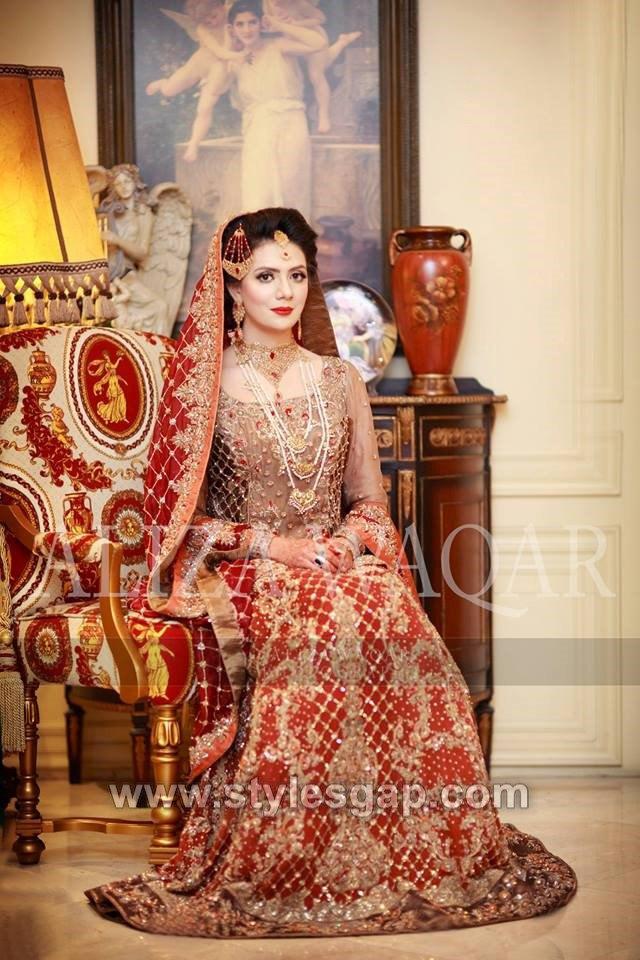 3c131f76c6 Latest Bridal Lehenga Designs Collection for Pakistani Indian & Asian Brides  (14)
