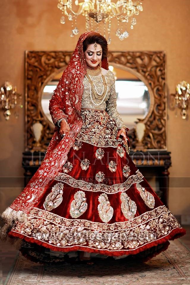 7bb365417c Latest Bridal Lehenga Designs Collection for Pakistani Indian & Asian Brides  (18)