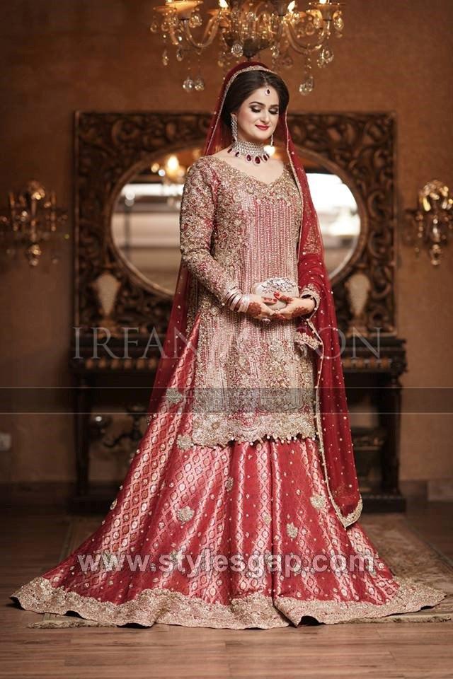 156b1f5724 Latest Bridal Lehenga Designs Collection for Pakistani Indian & Asian Brides  (22)