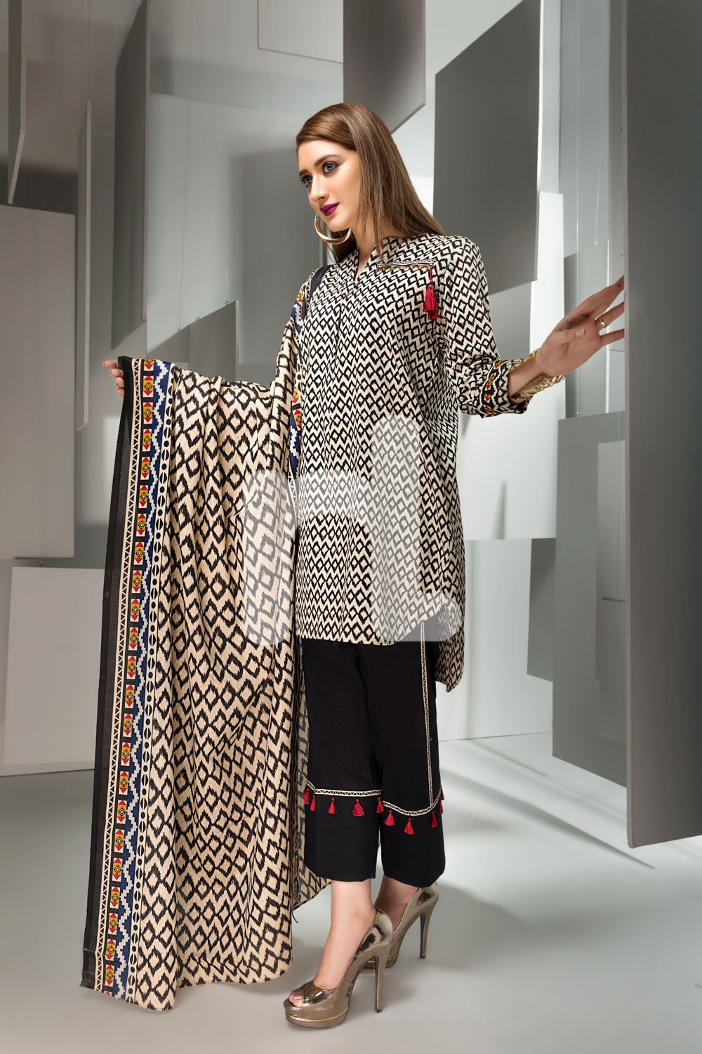 62633b1bff Enjoy your winter season with Nishat linen and celebrate happiness. Follow  us for more collections and fashion updates. Keep on smiling!