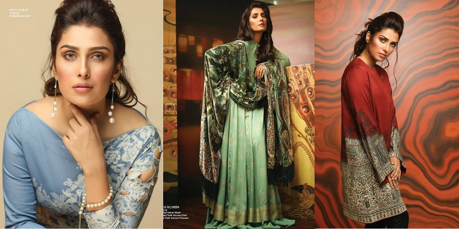 Alkaram Fall Winter Embroidered Dresses Collection 2018-2019