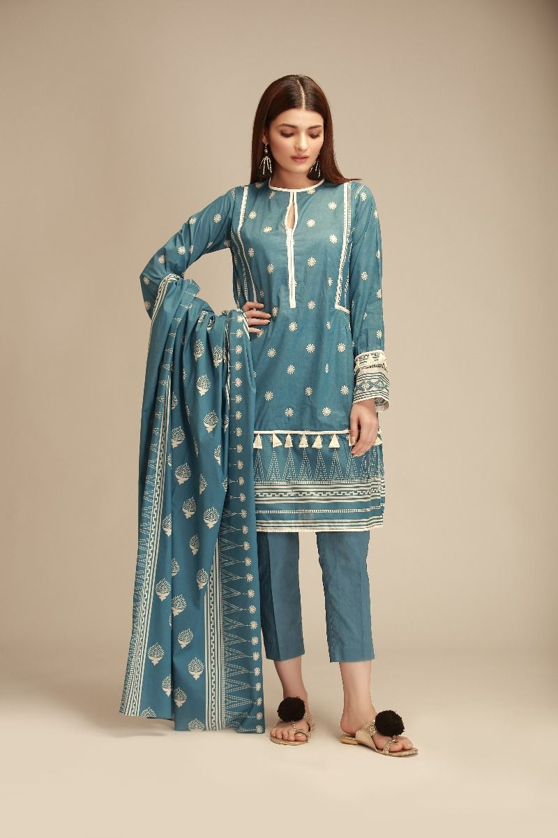 Khaadi Winter Collection Cambric Dresses Designs 2018 2019