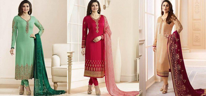 Latest Pakistani Indian Straight Cut Salwar Kameez 2018-19 Designs