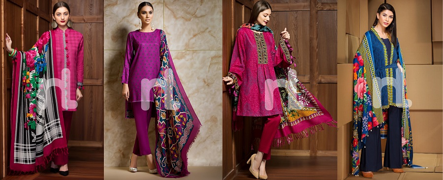 Nishat Linen Winter Dresses Collection 2017-2018 Stitched & Un-stitched