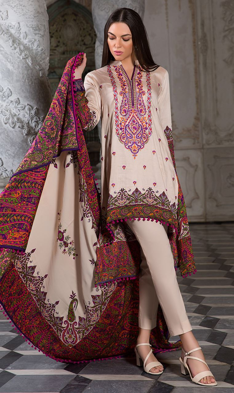 b4f35b2452dd Orient Latest Winter Dresses 2018-19 by Embroidered Printed Collection