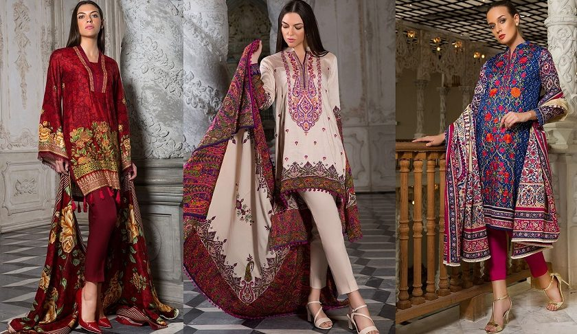 Orient Textiles Embroidered & Printed Latest Winter Dresses 2018-19