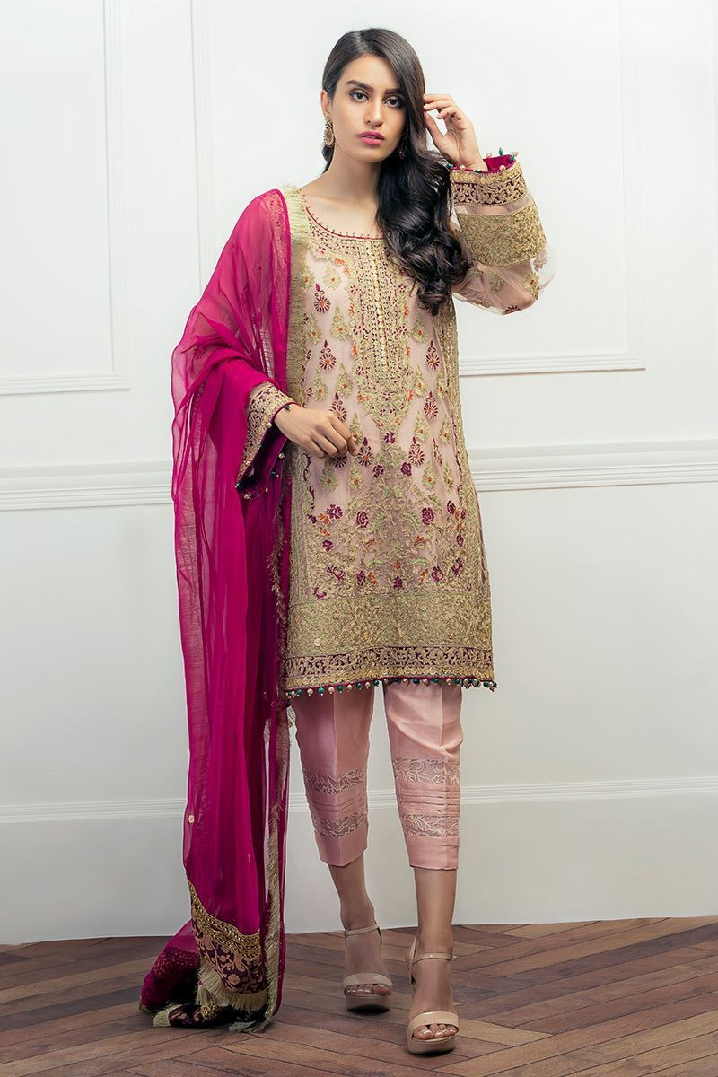 96bcc1f8a2 Pakistani Party Wear Embroidered Shirts 2019-2020 Latest Designs