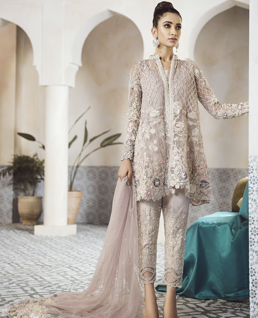 Pakistani Party Wear Embroidered Shirts 2020 2021 Latest Designs,Tea Length Wedding Dresses With Pockets