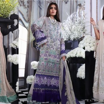 Sana Safinaz Silk Chiffon Dresses Designs Luxury Collection 2019