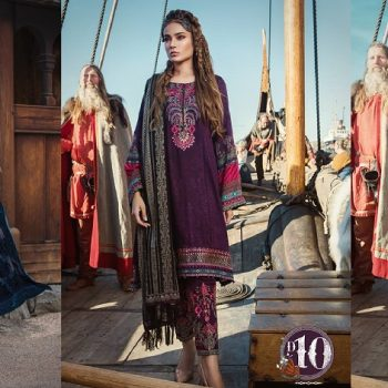 Latest Maria B Winter Linen Dresses Collection 2018-2019