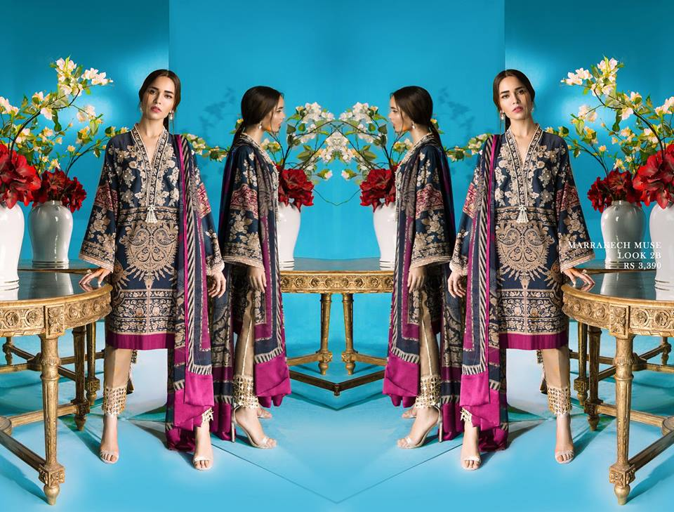ca96398e66 Here we are going to share the recently launched Sana Safinaz Winter  Dresses Muzlin Collection 2018-2019.