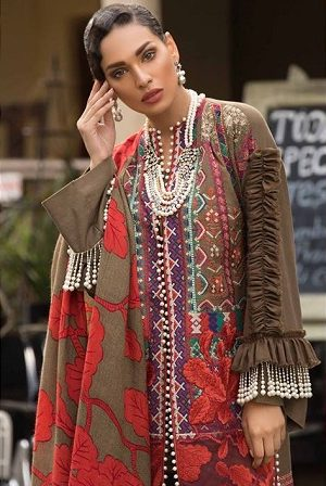Latest Sana Safinaz Winter Shawl Dresses Collection 2018-2019