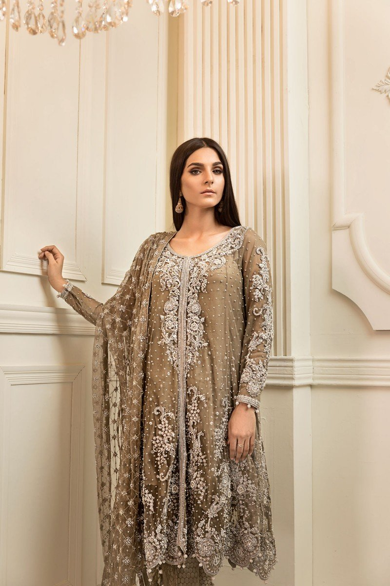 df333777d0c55 Because this collection is all about the perfect wedding wear attires. The  luxurious front open shirt and maxi has ...