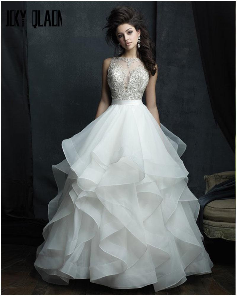 Latest Wedding Gowns Photos: Latest Bridal Luxury Dress Fabrics Trends & Designs 2018-2019