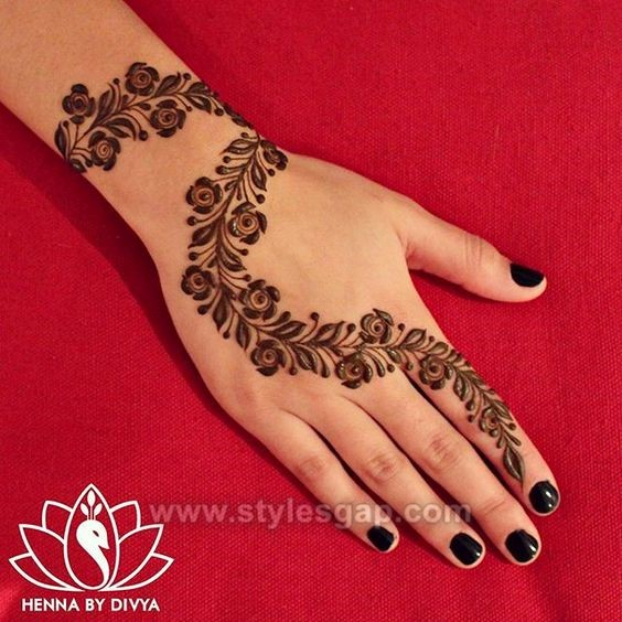 Mehndi Hairstyles Uk : Beautiful easy finger mehndi designs  styles