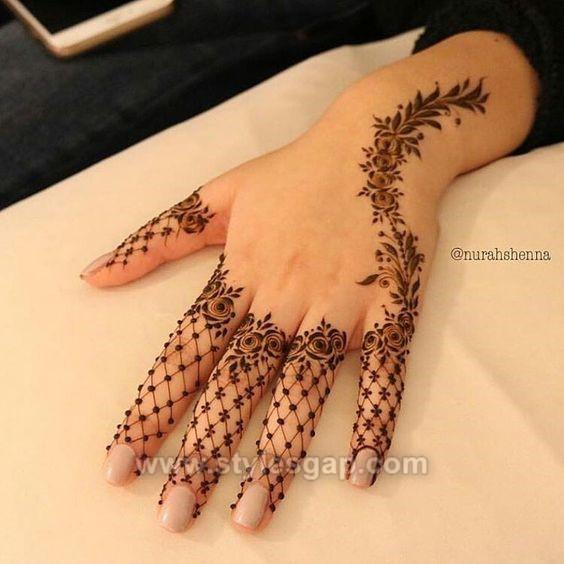 Beautiful Easy Finger Mehndi Designs 2020,2021 Styles