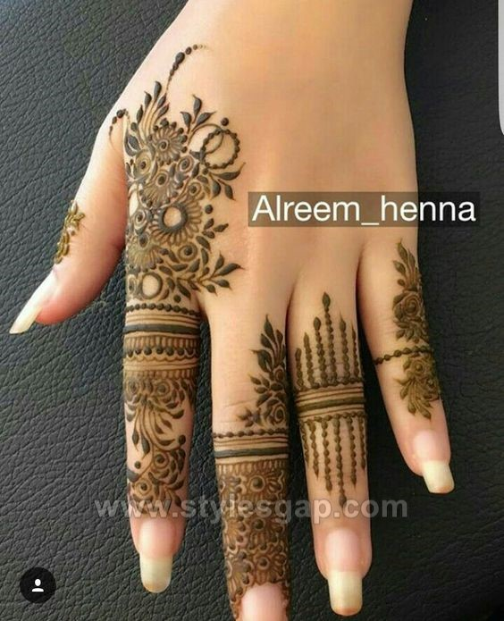 beautiful easy finger mehndi designs 2018 2019 styles