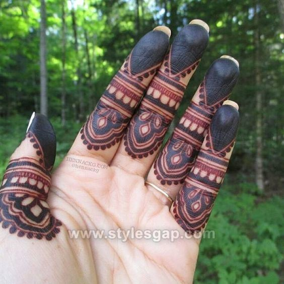 Beautiful Easy Finger Mehndi Designs 2018 2019 Styles 2020