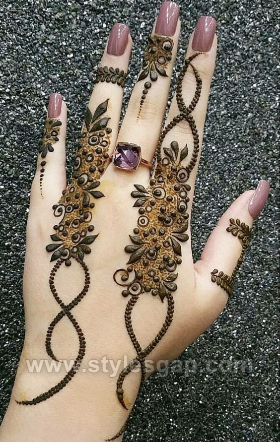 Beautiful Easy Finger Mehndi Designs 2018 2019 Styles 2020 By Dikhawa Online Shopping