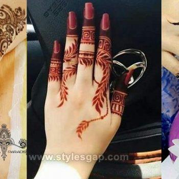 Beautiful Easy Finger Mehndi Designs 2021-2022 Styles