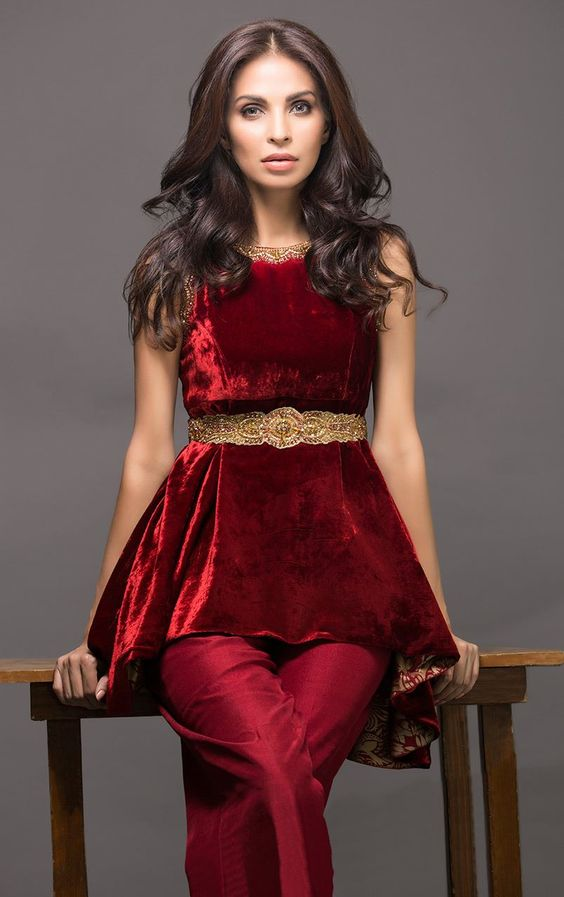 Velvet Pakistani Dresses Designs