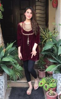 db45c83e7494 Winter Velvet Dresses Designs Latest Trends Collection 2018-2019
