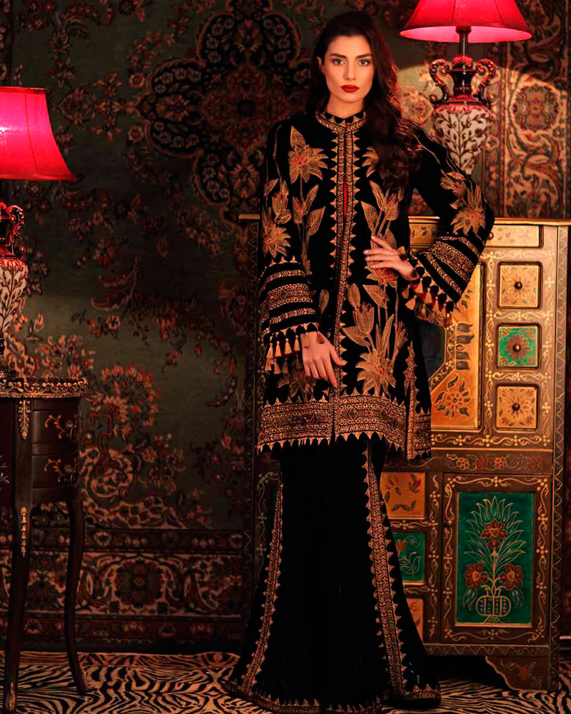 0ecba9e5da ... Winter Velvet Dresses Designs Latest Trends Collection 2018 2019