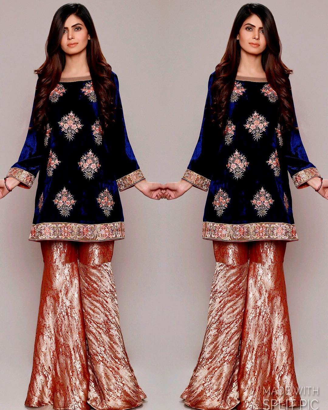 Velvet Blouse With Lehenga