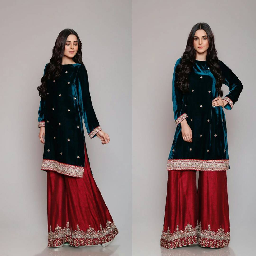 Winter Velvet Dresses Designs Latest Trends Collection 2020