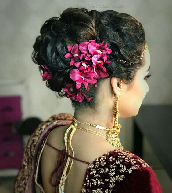 Latest Asian Party Wedding Hairstyles 2018-2019 Trends 2020 by diKHAWA Online Shopping