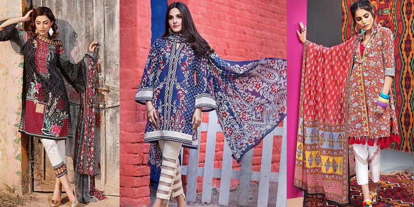 Gul Ahmed Printed Summer Lawn Dresses Collection 2018-2019