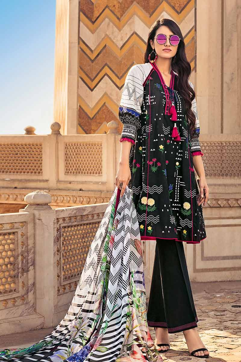 396e2bd1a1 Gul Ahmed Printed Lawn Dresses Collection 2019 consists of the unstitched  fabric of digitally printed lawn and chunri designs.