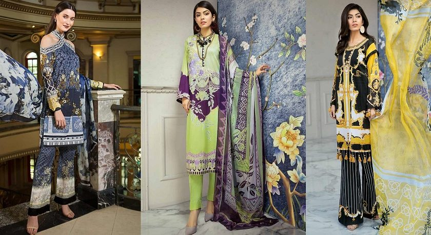 Gul Ahmed Printed Summer Lawn Dresses Collection 2019-2020