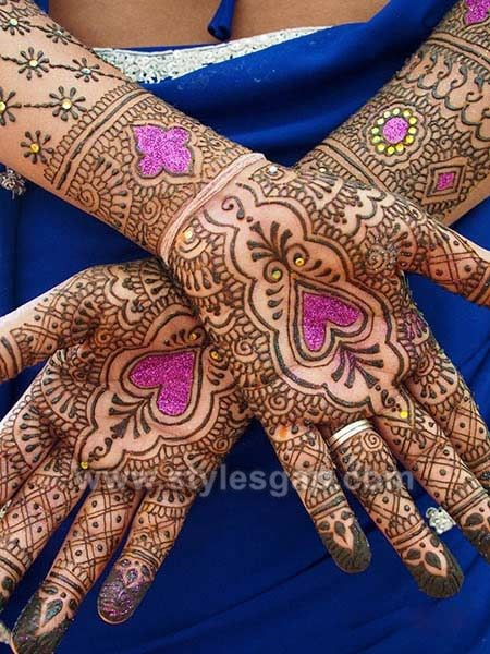 stylish glitter mehndi designs trends 201819 collection