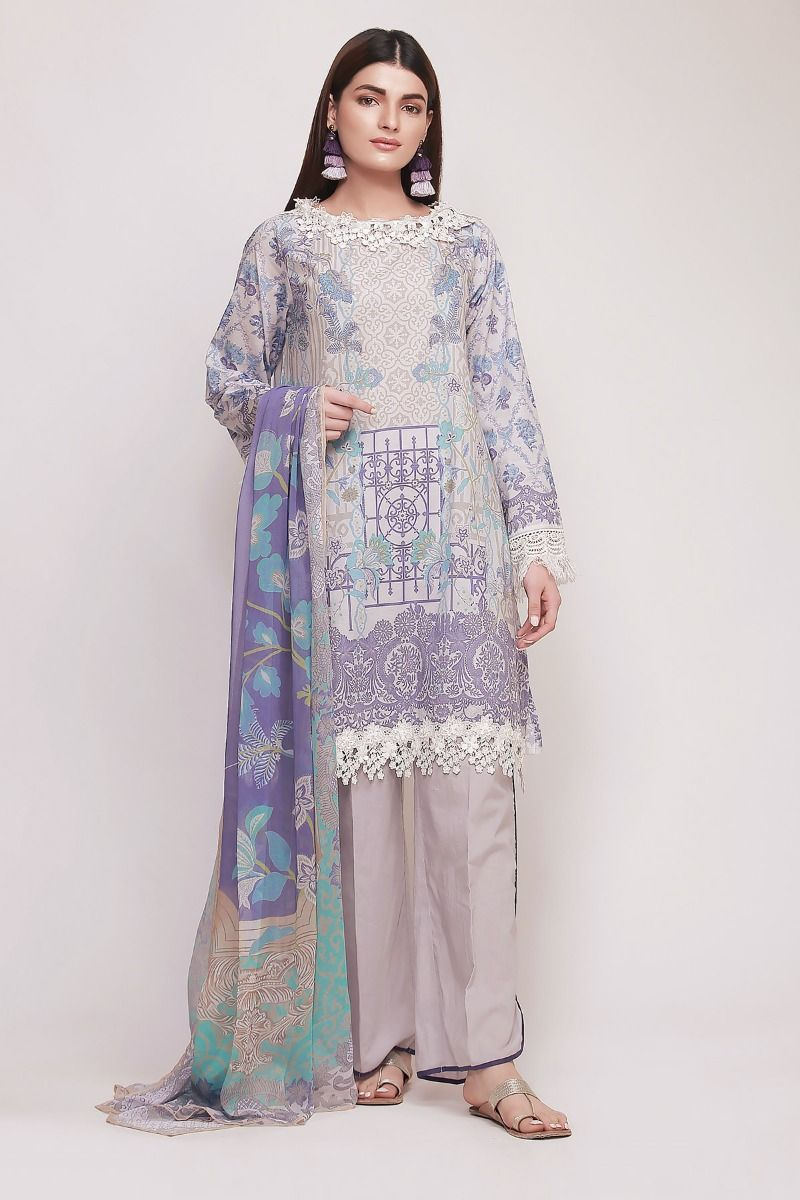 143b1d43a6 Khaadi Latest Summer Lawn Dresses Designs Collection 2019-2020