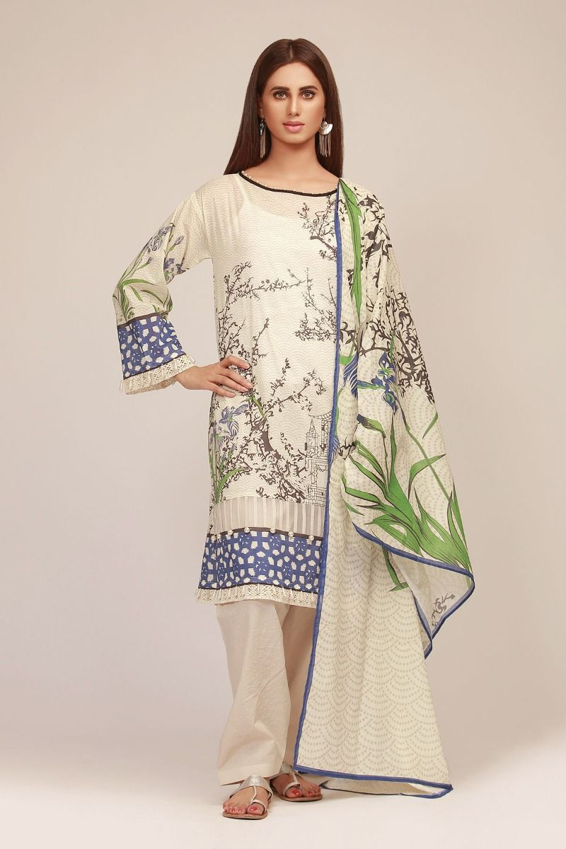 e2f5993bf6 Khaadi is always famous for its amazing lawn prints and subtle  embroideries. The floral patterns, abstract arts, geometric designs, etc  are just astounding.