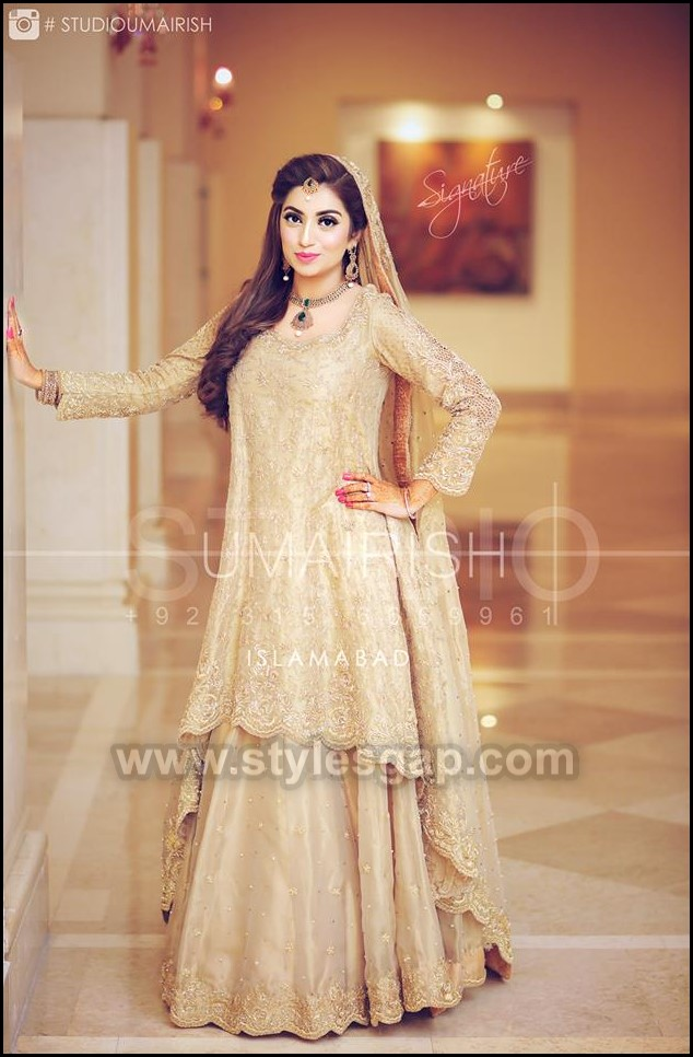 b2d8300bc3 Latest walima dresses designs and collection is indeed worth eye-catching.  Have a look at the peak sneak compilation of this year's Beautiful Walima  Dresses ...