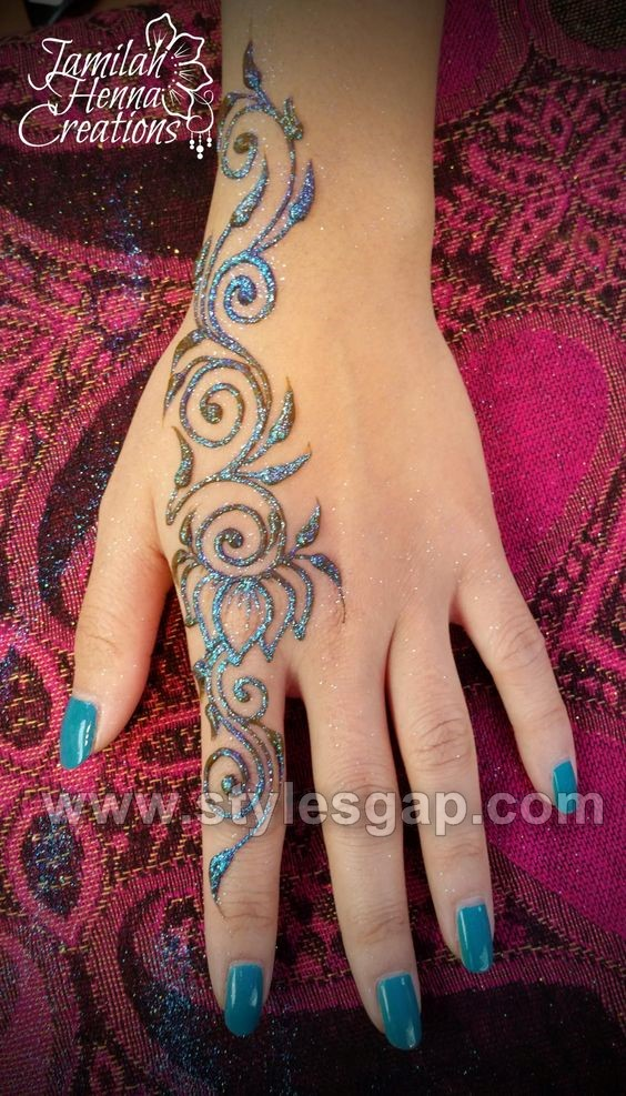 stylish glitter mehndi designs trends 2018 19 collection
