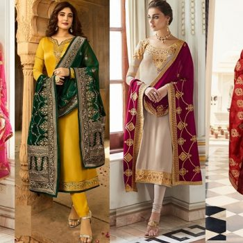 Indian Fashion Designer Churidar Suits Designs Collection 2018