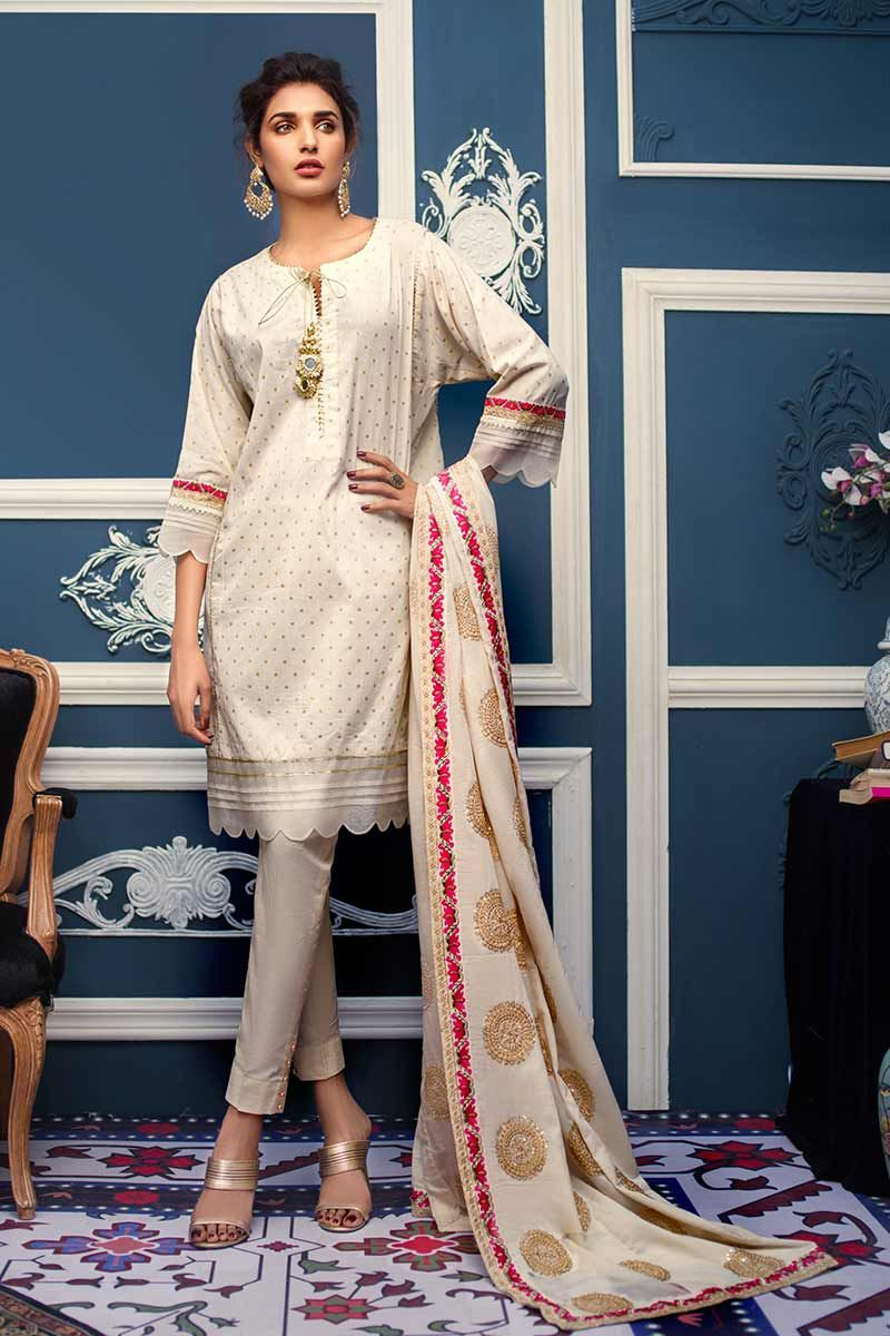 fa2403a93a Gul Ahmed Summer Embroidered Lawn Dresses Collection 2019-2020